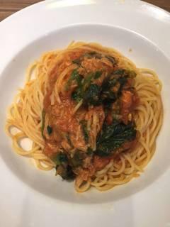 ほうれん草とツナのスパゲティー