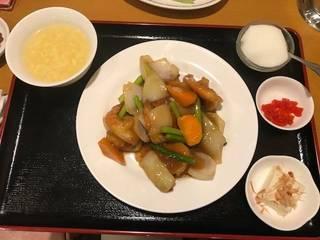 大海老の牡蠣油炒め定食