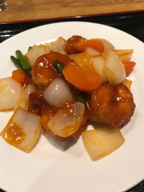 大海老の甘酢炒め