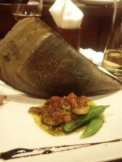 平貝の貝柱の前菜