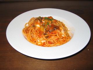 茄子と卵のモッツァレラ