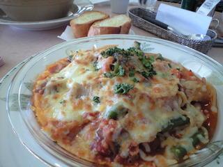 モッツァレラチーズの焼きパスタ