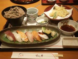 すし天ぷら定食