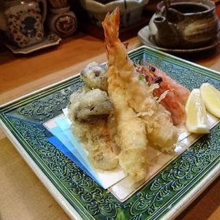 車エビと松茸の天ぷら