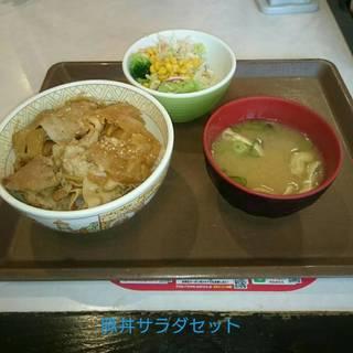 豚丼サラダセット