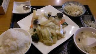 海鮮野菜炒め定食