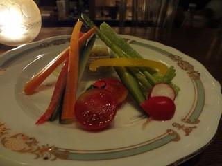 野菜スティック バーニャカウダーソース添え