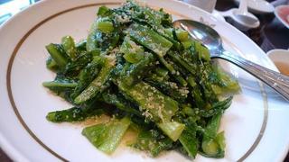 中国A菜のニンニク炒め