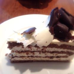 ホワイトチョコ&ブラックチョコケーキ