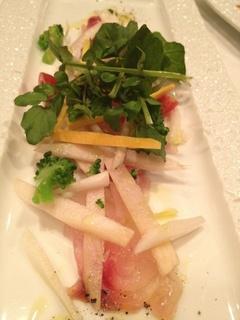 鮮魚のカルパッチョ 季節野菜を添えて