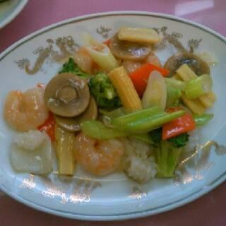 海鮮の炒め