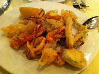 季節野菜と魚介のフリット
