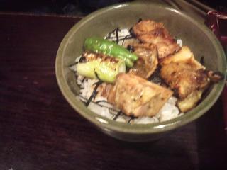 鶏炭火焼き小丼