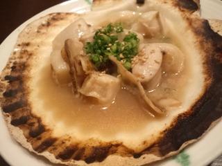 ホタテ貝焼き
