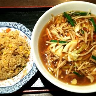サンマー麺 半炒飯Bセット