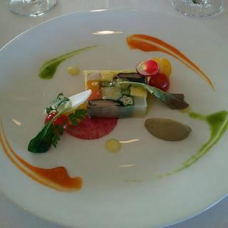 彩り野菜のテリーヌ バーニャカウダソース