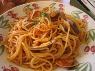 アサリとトマトのスパゲッティ