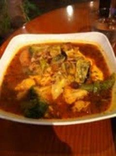 季節の野菜のスープカレーオムライス