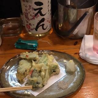 白身魚のしそ巻き天ぷら