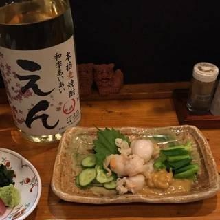イタヤ貝とぬたの酢味噌和え