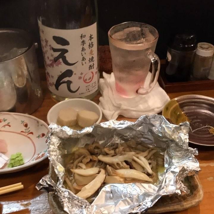 秋鮭とキノコのバターホイル炒め