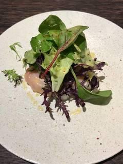 ポロ葱の温かいサラダ