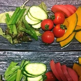 朝獲れ野菜プレート
