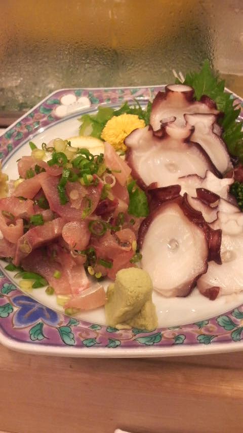 蛸の柔か煮刺身