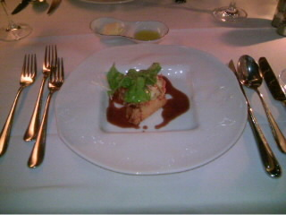 アンコウのフリット 海老芋のソテーと焦がしバター