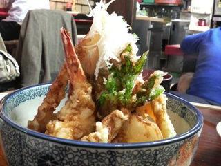 小魚タワー天丼