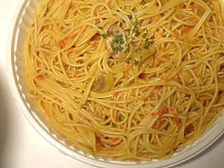 カニのクリームスパゲティ
