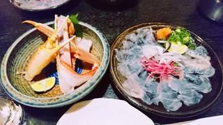 """特上""""ずわい蟹&河豚コース《7品》"""