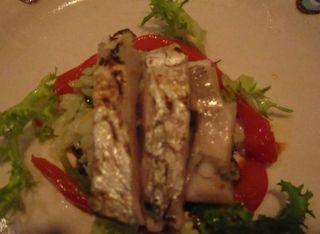 太刀魚のタリアータ スカローラとお米のサラダ添え