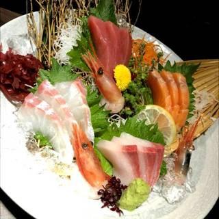 日本海鮮魚五点盛り
