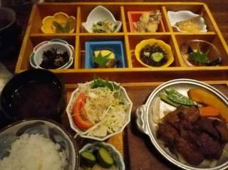 おばん菜御膳(知多牛網焼き)