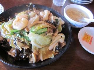 海鮮あんかけ半焼麺