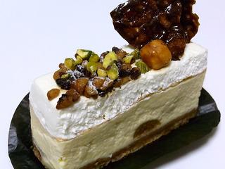 2層のチーズケーキ
