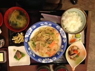茄子とゴーヤの味噌炒め定食