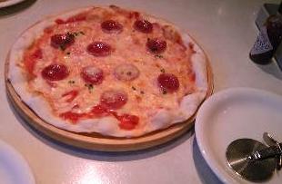 サラミのピッツア