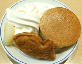 ソフトクリームとパンケーキ