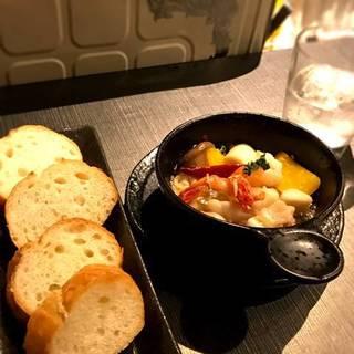 干物とお野菜のアヒージョ