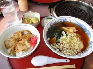 中華そば・ミニ焼豚丼セット