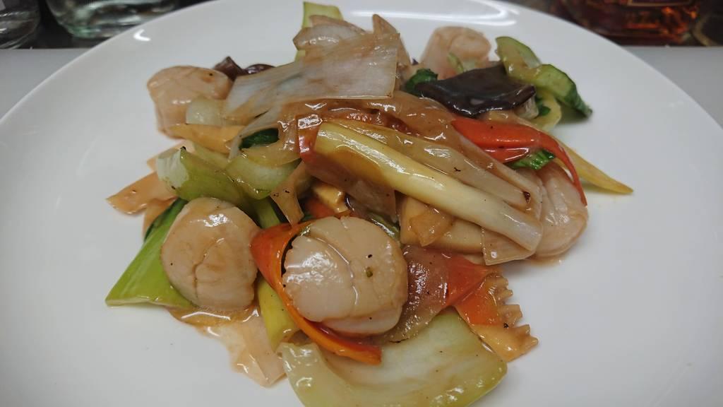 貝柱とチンゲン菜炒め