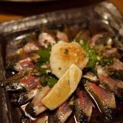 秋刀魚のたたき肝ソース