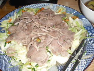 豚タンと野菜の炒め物