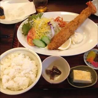 メガジャンボ海老フライ定食
