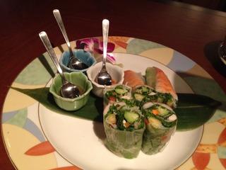 海老と野菜の生春巻き