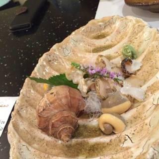 真つぶ貝の造り