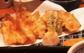 キスと野菜の天ぷら