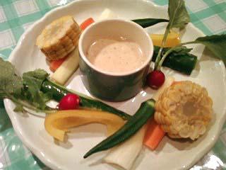 野菜のステックサラダ バーニャカウダソース